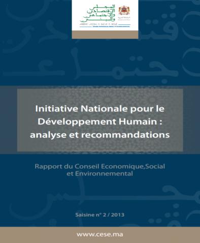 Rapport du CESE sur l'INDH- 2013