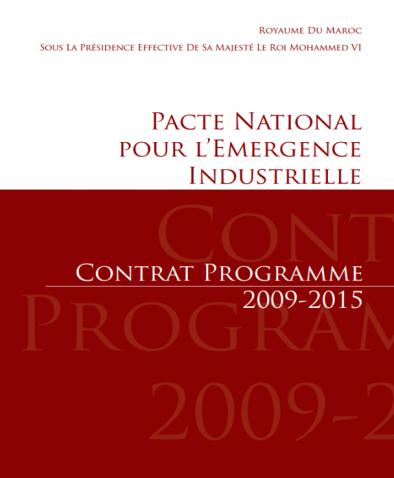 Pacte Nationale pour l'Emergence Industrielle- Contrat Programme 2009-2015