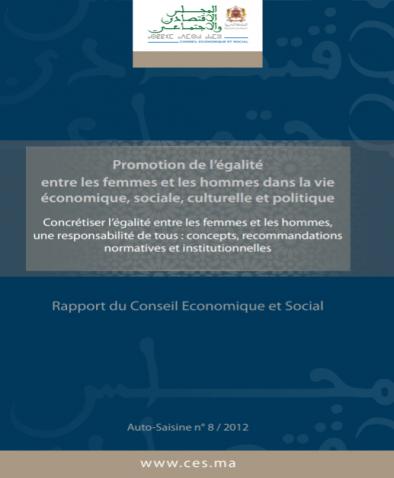 Rapport du CESE sur l'Approche Genre- 2012